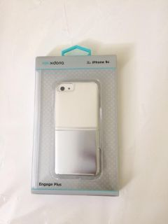 Iphone 5s & 5C Phone Case (Clear & Silver)