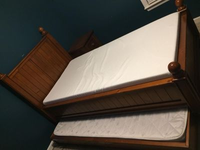 Pottery Barn trundle bed