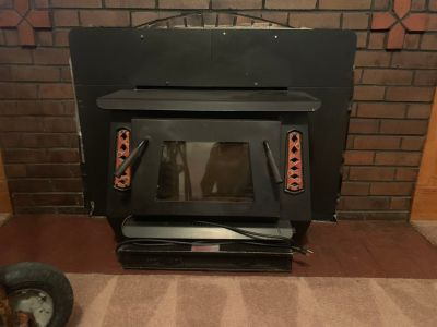 Antique decorative wood burning fireplace insert stove