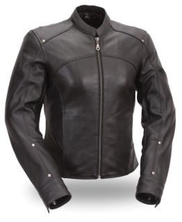 Sell First Mfg Accentuating Ladies Leather Motorcycle Jacket & Free Gloves motorcycle in Palatine, Illinois, US, for US $169.99