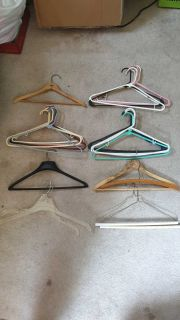 25 Assorted Clothes Hangers