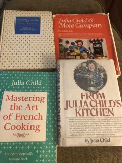Lot of 4 Julia Child books - used - porch pick up