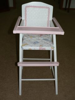 Wicker Backed Doll High Chair