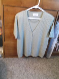 ALFRED DUNNER PULL-OVER SWEATER TOP SIZE M