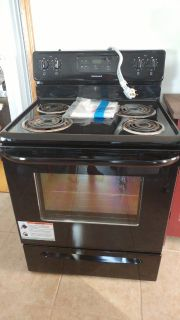 Frigidaire black coil electric range with cord