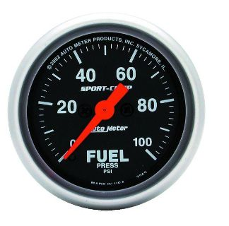 "Find Auto Meter 3363 Sport Comp 2 1/16"" Electric Fuel Pressure Gauge 0-100 PSI motorcycle in Greenville, Wisconsin, US, for US $247.58"