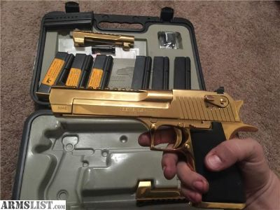 For Sale: Desert eagle 50ae gold (Used)