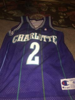LAuthentic Larry Johnson Throwback Hornets JERSEY