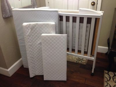 Portable Crib with lots of extras