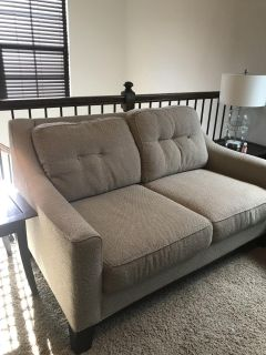 Love seat and two end tables