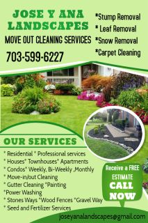 Cleaning services and landscape