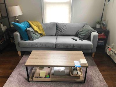 Light Grey IKEA Karlstad Sofa