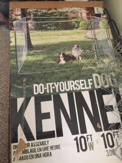 Do It Yourself  Chain Link Dog Kennel