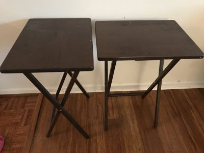 Two TV folding tables