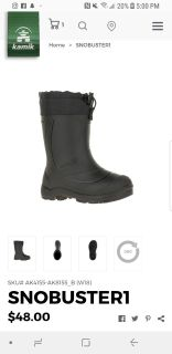 ISO size 8 toddler Kamik snowbuster1 boots