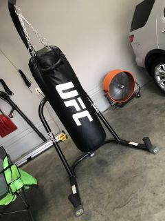UFC boxing bag and Everlast Stand