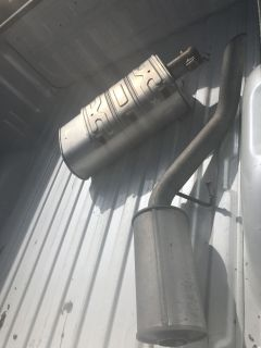 Exhaust from a 2016 GMC SIERRA with 20k Miles