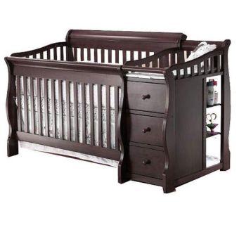 Convertible Crib & Changing Table (4-in-1)