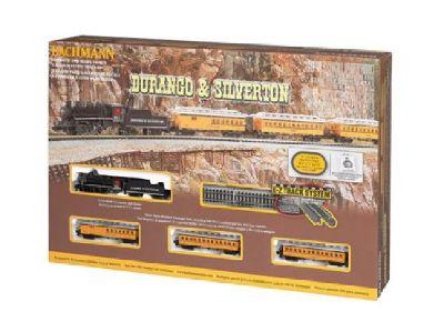 """Bachmann Durange & Silverton Train Set N Gauge 34"""" x 24"""" Oval E-Z Track"""
