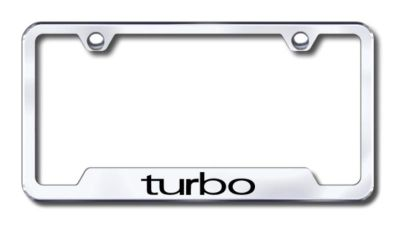 Sell Turbo Engraved Chrome Cut-Out License Plate Frame Made in USA Genuine motorcycle in San Tan Valley, Arizona, US, for US $31.19
