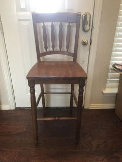 3 Tall Counter Height Barstools Solid Wood