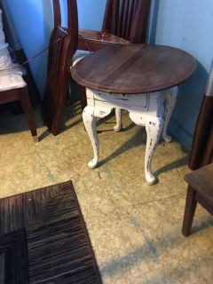 Small accent table 27 inches long 23 inches wide 23 inches long
