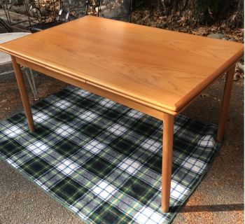 Vintage Danish Modern Teak Extension Dining Table