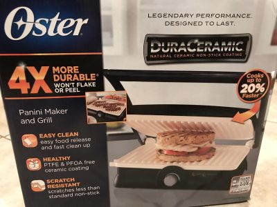 Oster panini maker and grill NIB
