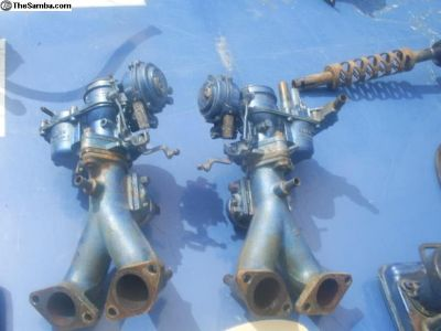 Pict dual carbs w/intake manifolds