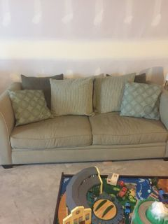 Sofa with ottoman in great shape