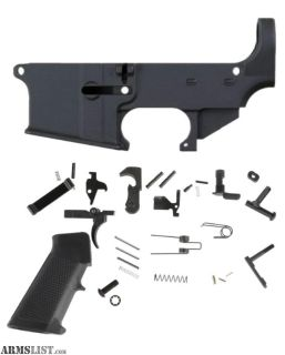 For Sale: 80% ANDERSON AR15 LOWER + ANDERSON LOWER PARTS KIT WITH GRIP