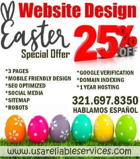 Website Design Easter Offer 25% Off