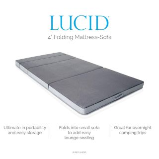 UCID 4 Inch Folding Sofa and Play Mat - Comfortable and Durable Foam - Washable Cover - Full
