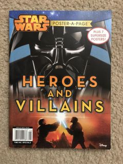 Star Wars poster a page book