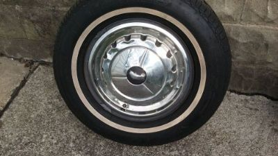 Buy 1957 chevy original Wheel. good condition white wall tire. and hubcap nice . motorcycle in Melvindale, Michigan, United States, for US $125.00