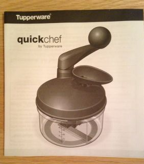 Vintage Tupperware Quickchef Food Processor and Chopper