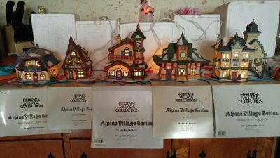 Heritage Village Collection $15 each or $100 for set of 9 (there are doubles of Danube Music Publisher)