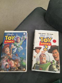 Toy Story 1 & 2 vhs