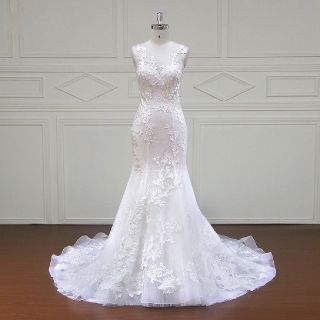 Abby's Mermaid Lace Wedding Gown