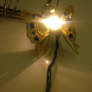 Wire Wrought Iron colored Butterfly Lights