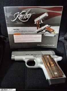 For Sale: KIMBER MICRO9 RAPTOR 9MM (LNIB)