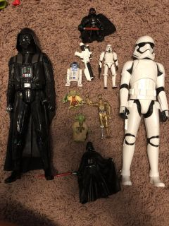 Star Wars toys. Two are bigger then Barbie size.