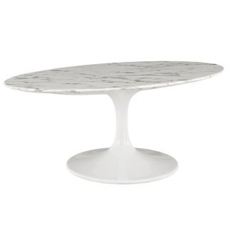 "New 42"" Oval Cultured Marble Coffee Table Ships"