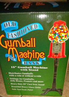 OLD FASHION GUMBALL MACHINE AND BANK