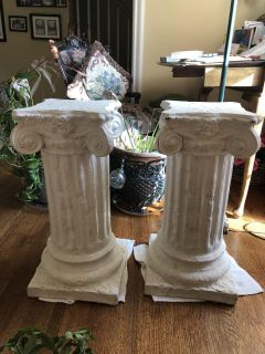Plasters columns - plant or table stands $20 each