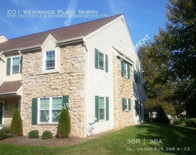 3-Bedroom End-Unit Townhome for Rent - 201 Westridge Place North - Available April 15