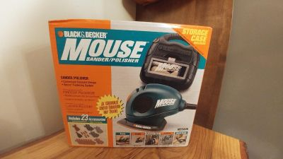 NIB Mouse Sander / Polisher with Carrying Case -Gift Giving Condition