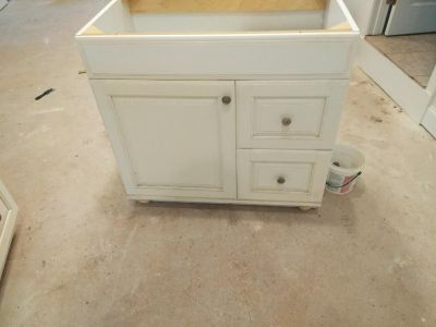 Brandnew cabinets need clean never installed