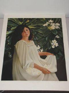 $75 Beautiful Hawaiian Print (1988) Island Flowers