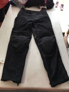 Motorcycle pants with pads size 28 20.00